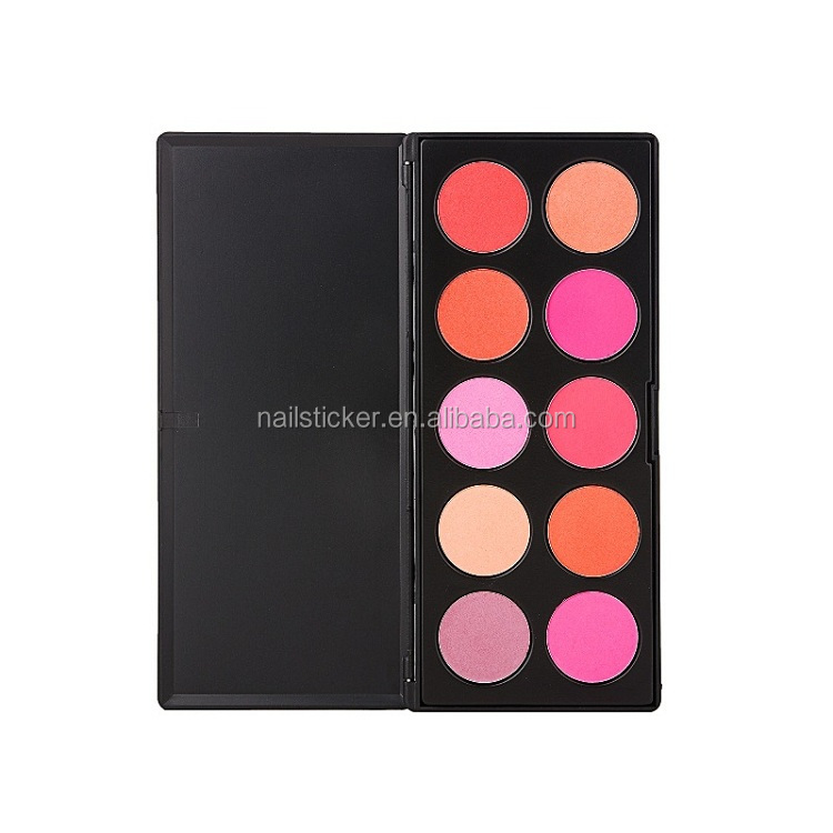 New product OEM 6 colors cosmetic concealer palette pro makeup blusher mixing blush palette