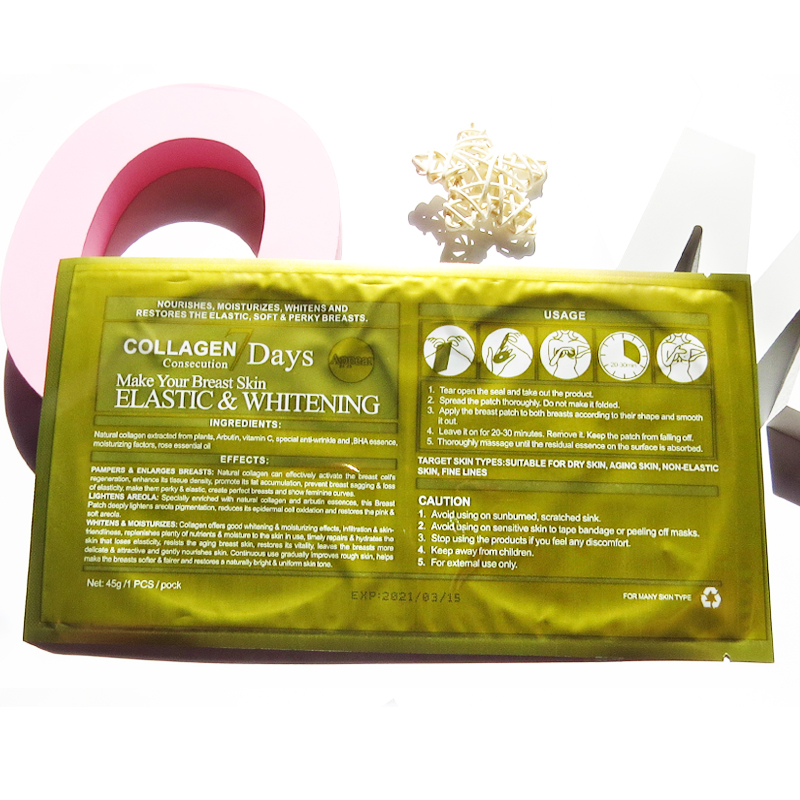 OEM Private Label Natural Breast Firming Mask collagen firming breast mask Korean Skin Care