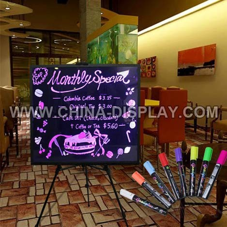 Flashing LED writing menu board hanging/floor stand