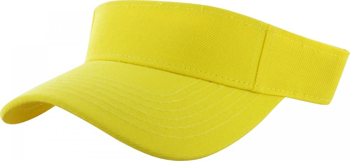 a7ce39d68 Buy Yellow_Plain Visor Sun Cap Hat Men Women Sports Golf Tennis ...