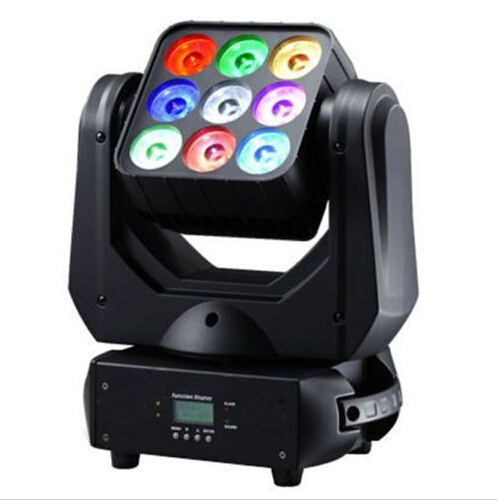 9pcs 10W rgbw leds matrix light Infinite rotating beam moving head dj stage lighting