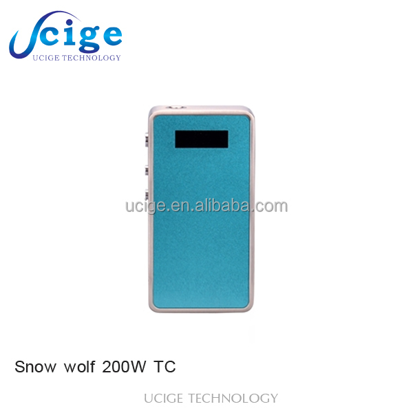 Authentic Snow wolf 200W Variable Wattage Temperature Control Box Mod Black sticker /silicone case/skin /Snow wolf 200w tc