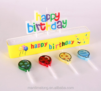 Happy Birthday Holiday Candle Letter Candles Bougie Colourful Colored A