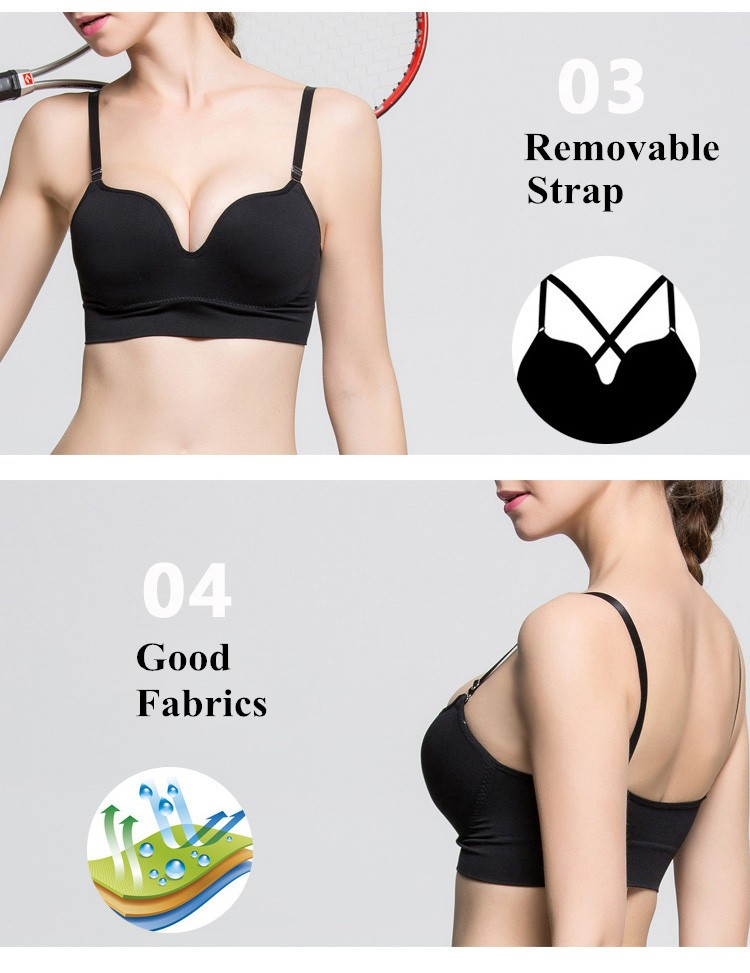 3D Cup Professional Shockproof Sports Bra No Rims Unbound Seamless Fitness and Yoga Bra Multivariant Underwear