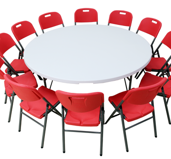 Tremendous 6Ft Portable Plastic Folding Round Table And Chairs Set Buy Plastic Portable Folding Round Table Plastic Folding Round Table Plastic Folding Round Caraccident5 Cool Chair Designs And Ideas Caraccident5Info