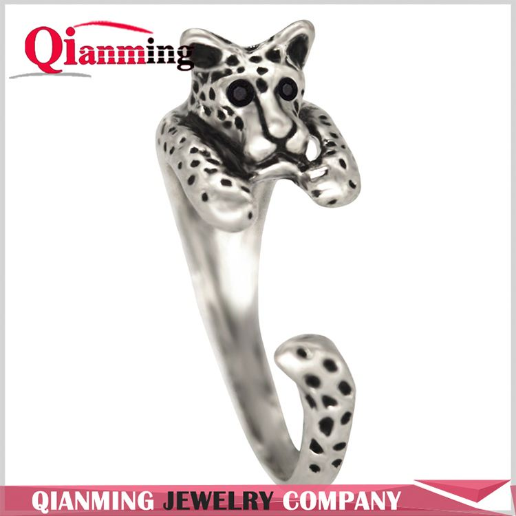 Adjustable Animal Ring Women's Girl's Retro Leopard Rings