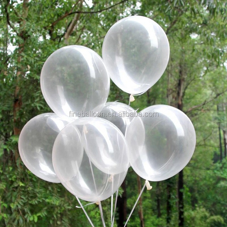 "12"" transparent clear latex balloons for birthday part supplies"