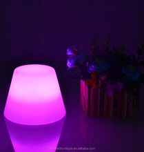 Modern design clear plastic led lamp shade covers with remote control on hot sale