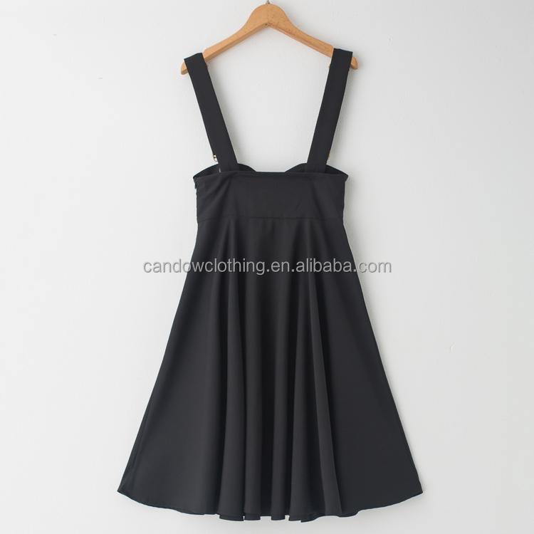Belle Poque Women/'s Flared A-Line Suspender Skirt Pinafore Dress Black Size L