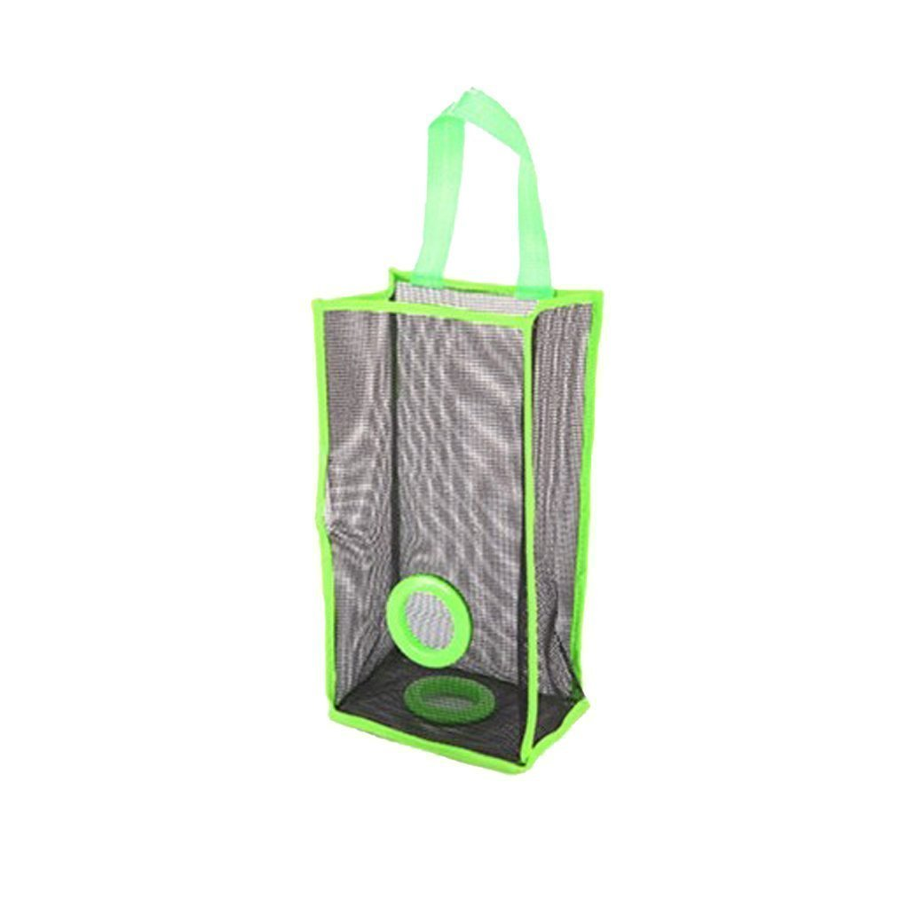 Sky Fish Trash Bags Holder Mesh Hanging Bag Garbage Bag Hanging Folding Garbage Bag Breathable Hanging Bag Perfect for kitchen storing garbage bags and so on green