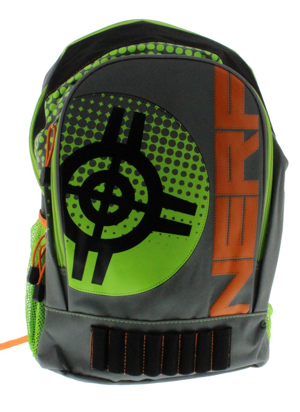 Nerf Stay on Target 16-inch Backpack - Green & Orange