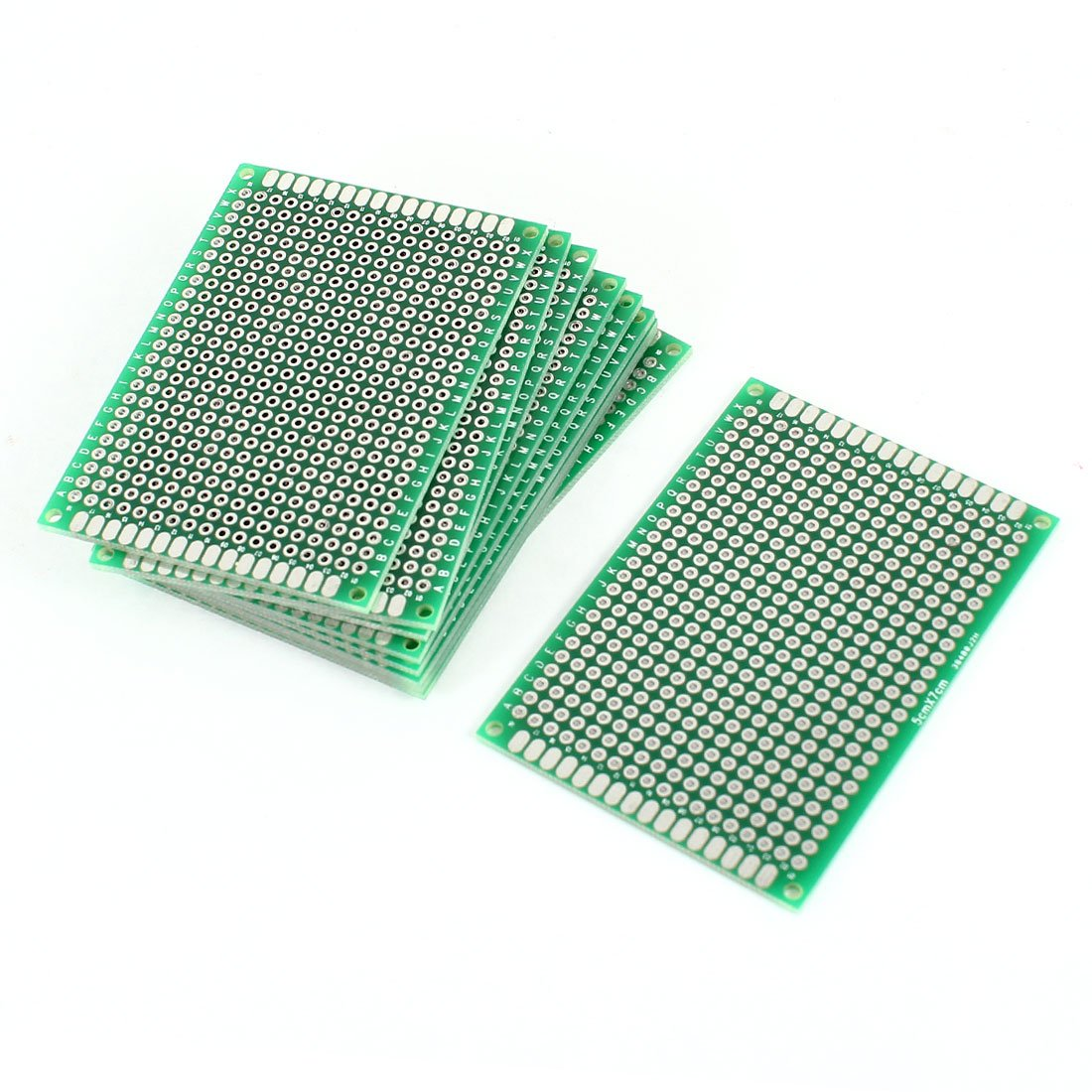Uxcell a14062100ux0222 10 Piece Double Sided Prototyping Experiment Matrix DIY PCB Circuit Board 5cm x 7cm