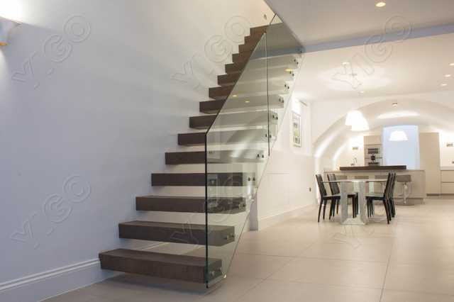 Wooden Staircase /wood Folding Stairs / Build Floating Staircase