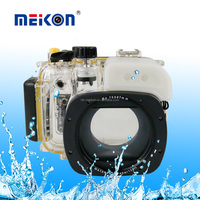 Meikon diving equipment newest underwater diving housing waterproof camera case for Canon G15