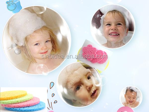 Beauty Facial Cleansing Cellulose Sponge,kid bath sponges
