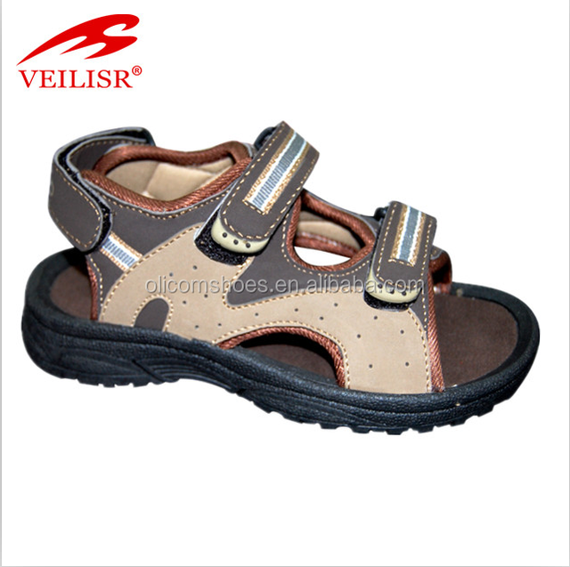 3721d3b4aab1c High quality leather upper rubber men sandals 2016 for beach