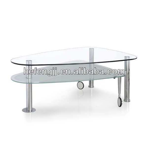 Movable Glass Coffee Table, Movable Glass Coffee Table Suppliers And  Manufacturers At Alibaba.com