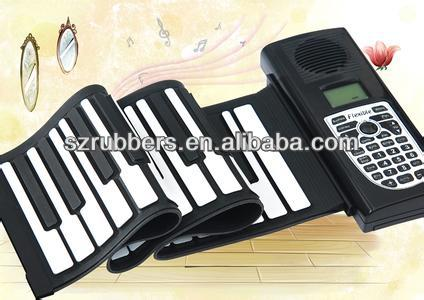 china factor professional folding roll up silicone digital piano