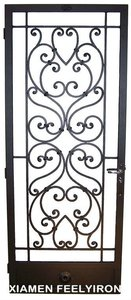 Wrought Iron front Door window inserts