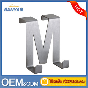 M Letter Shape Single Over The Door Hook/Metal Clothes Hook