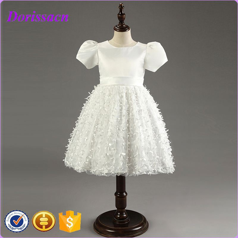 latest softtextile baby girl wedding winter pretty kids party dress printed frock for 1 year old
