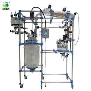 20L 50L 100L Pilot Continuous Stirred Tank Chemical Glass Reactor