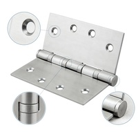 "4"" x 3"" x 3.0mm 4BB SUS304 ball bearing stainless steel door hinge"