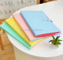 High Quality Cheap PVC Creative Korean Style Candy Color Folder/Portfolio