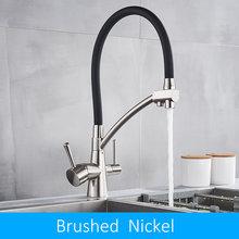 Quyanre фильтр кухонный кран 3 в 1 Очиститель кухонный питьевой фильтр водопроводный кран для кухонного смесителя фильтрованный кран(Китай)