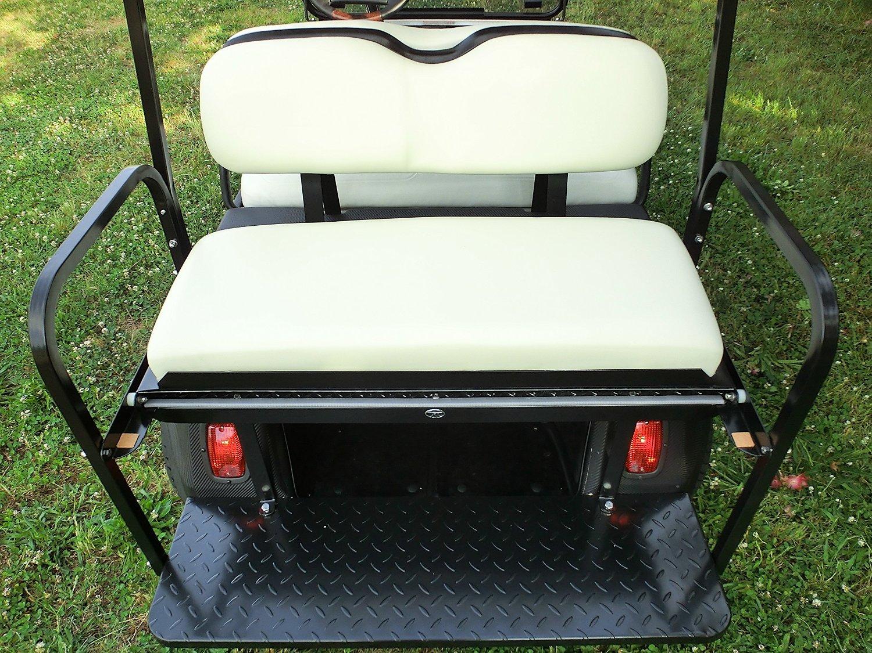 Rear Flip Seat for Club Car DS Golf Cart Models (1982-2000) - Buff