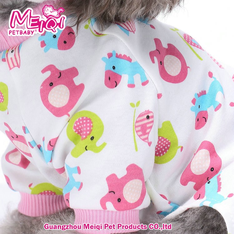 100% Cotton Pajamas Dog Clothes Pet Pajama Soft pet sleep wear