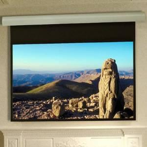"Silhouette Series E Matte White Electric Projection Screen Size: 84"" x 84"""