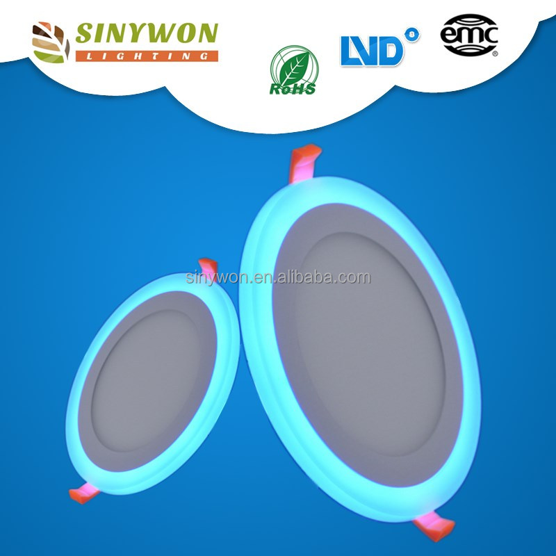 Sinywon 2016 china smd recessed round led panel,6w 9w 16w 24w led panel light board
