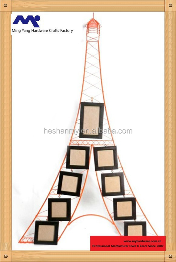 myp 006 eiffel tower shape wall decorative collage photo frame 9 wooden picture buy wooden and metal wall collage photo framewoodenand metal wall collage