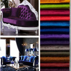 Chine 2015 tricot usine 100 polyester mode couleur brillant velours canapé tissu