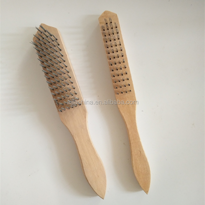 wooden handle cleaning tools steel wire brush