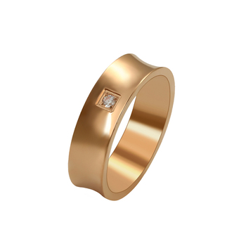 15976 xuping wholesale fashion figure ring with simple generous design for women or man