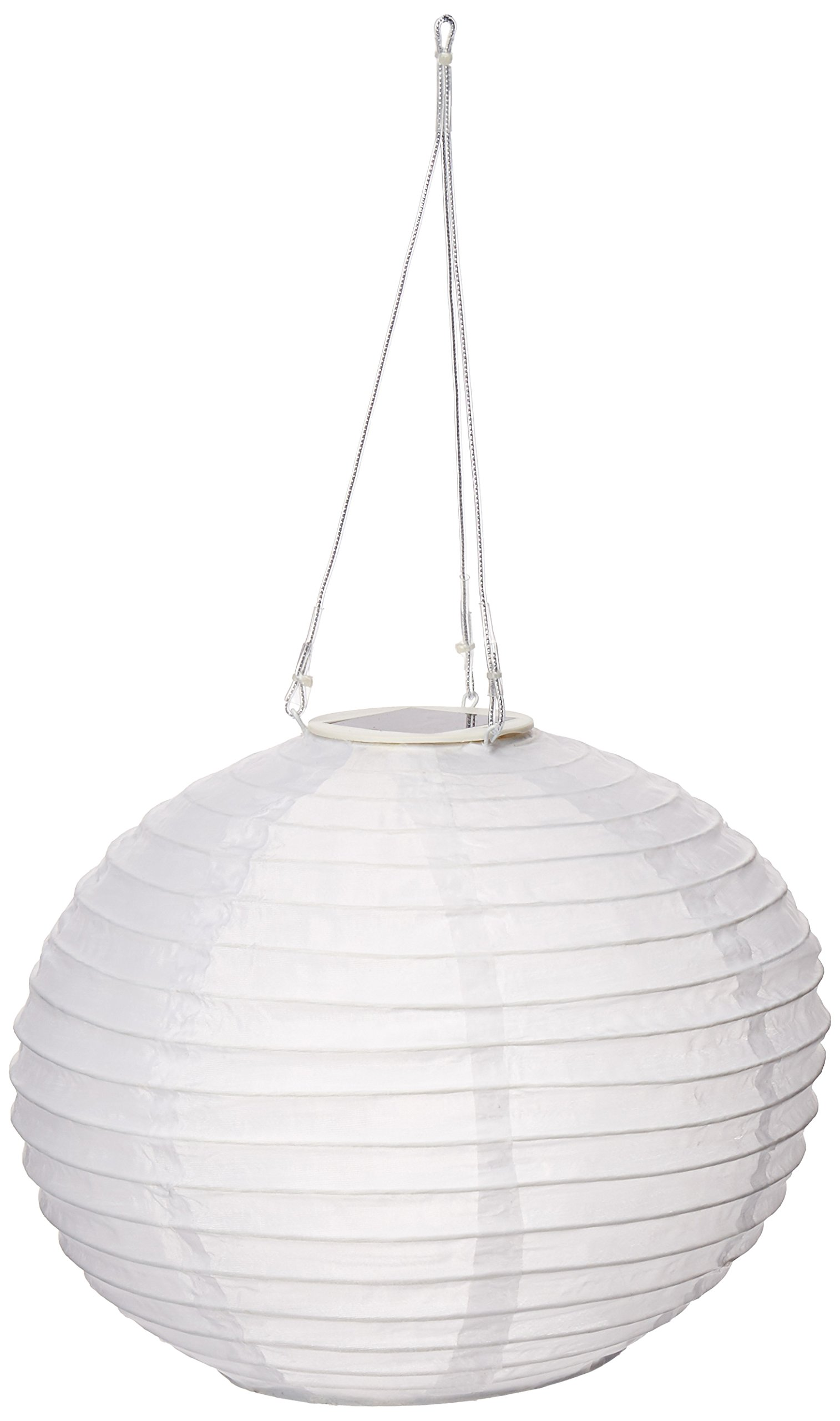 Red The Lakeside Collection Hanging Solar Lantern