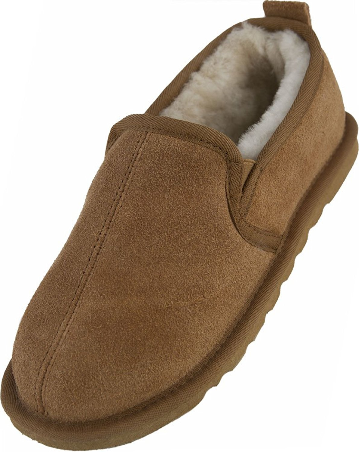 a3c23ab3869 Get Quotations · Lambland Mens   Gents Full Sheepskin Lined Slipper Boot in  Chestnut   Size UK7