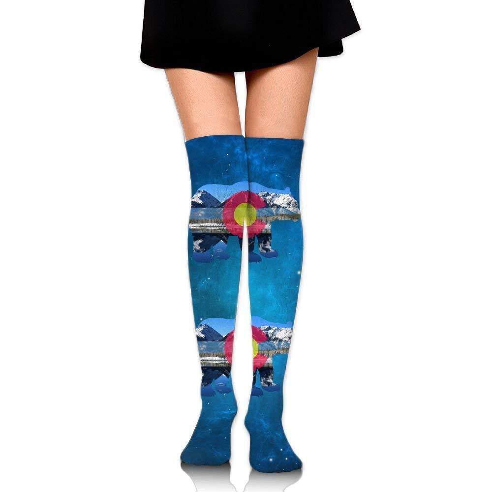 Brazili-flag Printed Crew Socks Warm Over Boots Stocking Cool Warm Sports Socks