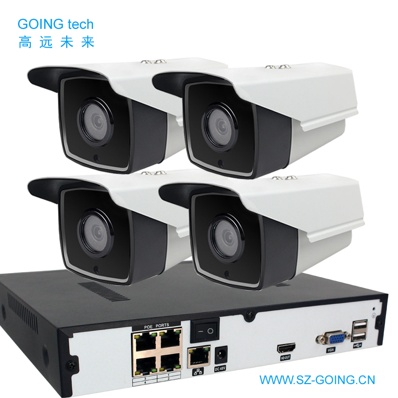 4/8/16/24ch NVR kit H.265 4K 5MP 3MP 2MP POE power ip security camera system outdoor cctv