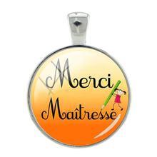 Tafree, модные Merci Maitresse DIY Подвески Брелок 25 мм стеклянный кабошон ожерелье аксессуары ювелирные изделия CT309(Китай)
