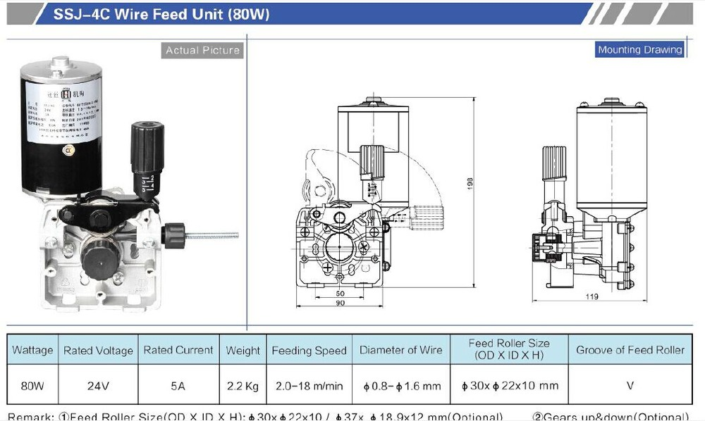 ssj 4c wire feeder motor 80w for mig welder welding machine buy rh alibaba com