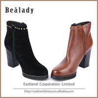 Newest fashion women high heel suede leather ankle boots shoes winter