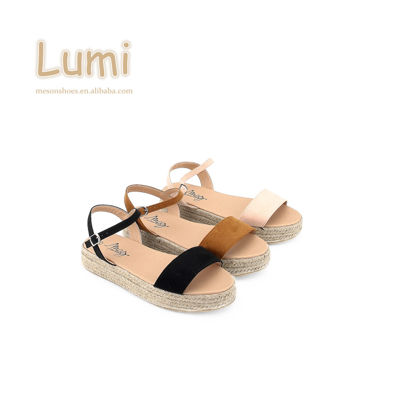 Ladies Cheap Tan Wedges Sandals With
