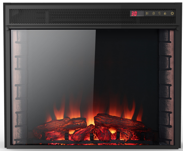 built in fireplace insert decorative wall panels 2000w fake fire with remote control