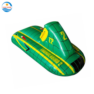 gold China supplier cheap custom pvc snow sled kids adults inflatable ski scooter