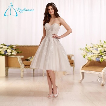Tulle Satin Sweetheart 2017 Short Wedding Dress Patterns