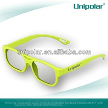 colorful frame fashion tiem circular polarized 3d glasses for LG TV