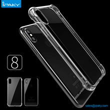 Free Sample Custom Clear Shockproof Mobile Back Cover Transparent Soft Tpu Cell Phone Case For Iphone 8 7 7Plus